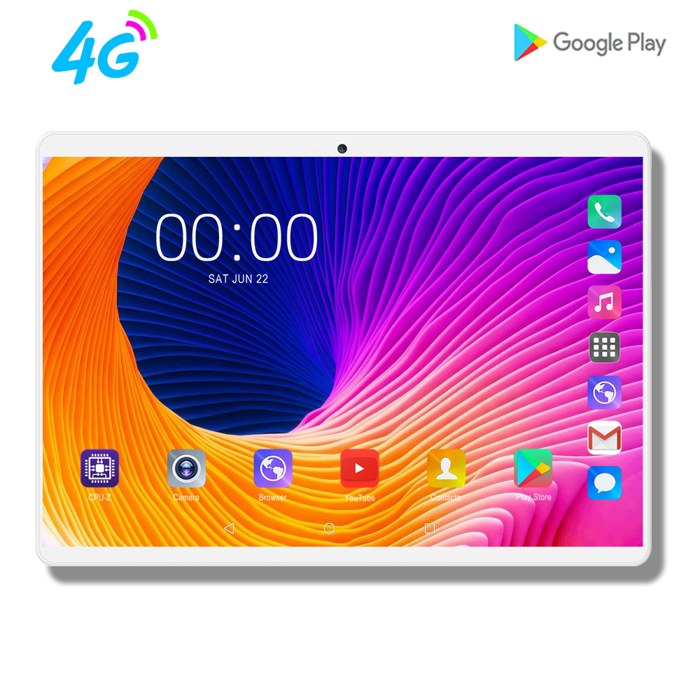 Mx960 10 pouces tablette Octa Core 4G LTE tablette 8GB RAM 128GB ROM 1920x1200 FHD écran double caméras Android 9.0 tablettes 10.1 9 8