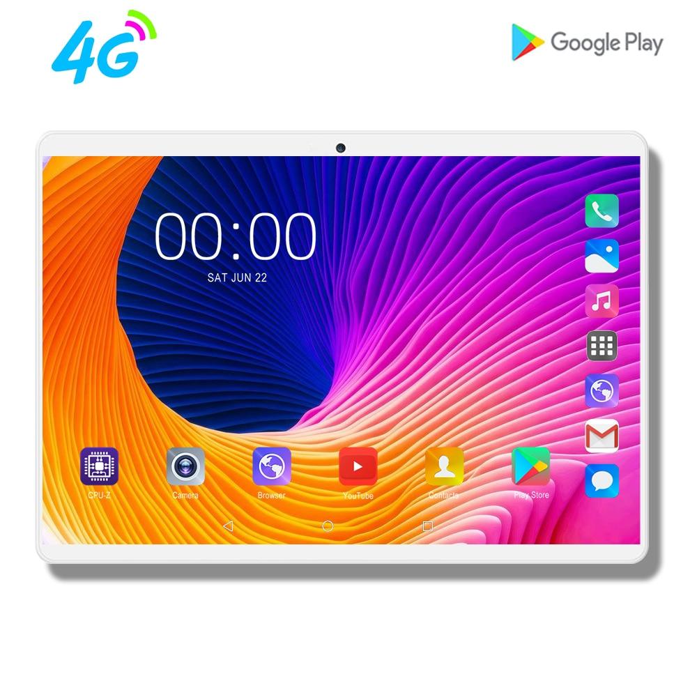 Mx960 10 pouces tablette Octa Core 4G LTE tablette 8GB RAM 128GB ROM 1920x1200 FHD écran double caméras Android 9.0 tablettes 10.1 9 8