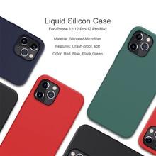Iphone 12プロマックスケースカバー6.7 液状シリコーンバックスムーズiphone 12ケース5.4 iphone 12プロカバー6.1