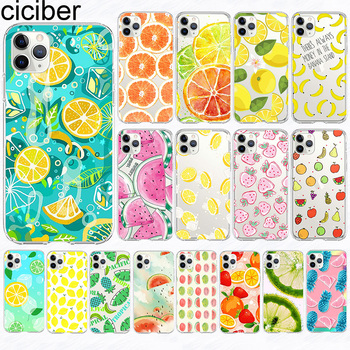 ciciber Case For iPhone 11 Case Cover for Iphone XR 11 Pro XS Max 7 X 8 6 6S Plus 5S SE 2020 Fruit Lemon Silicone Coque Funda ciciber dragon ball phone case for iphone 11 pro max xr x xs max tempered glass cover cases for iphone 7 8 6 6s plus funda coque