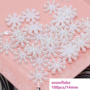 Image 3 - 100 יח\חבילה מיני לבן Snowflower DIY 3D Snowflower מדבקות רעיונות 2019 חג המולד 2020 חדש שנה בית קיר קישוט