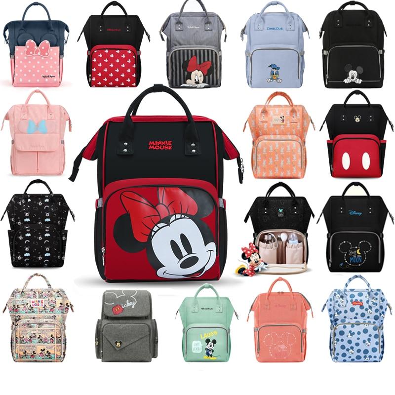 Disney Backpack Women Mummy Diaper Bag For Baby Care USB Heating Insulation Handbag Large Capacity Maternity Backpack Nappy Bag