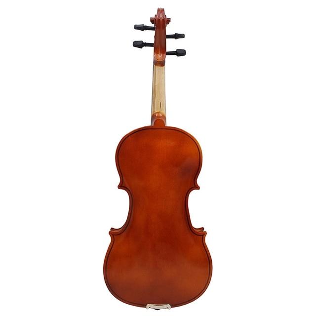 Violín Natural acústico de madera maciza de abeto llama de arce chapa de Violín con funda de colofonia cuerdas para arco hombro
