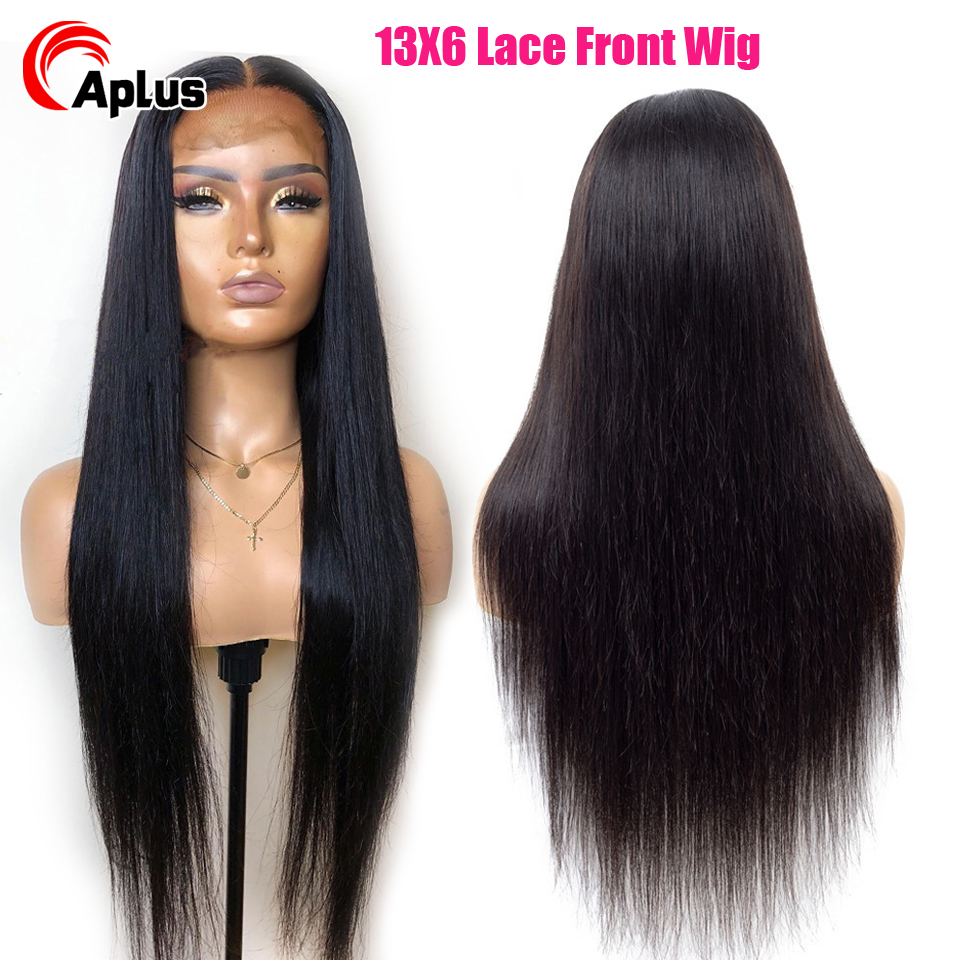 13x6 Deep Part Lace Front Human Hair Wigs Straight Hair 150% Density Brazilian Remy Human Hair Wigs Pre-Plucked Natural Hairline