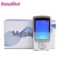 Mini TENS Machine Dual Channel Output EMS Pain Relief Nerve Muscle Stimulator Digital Therapy Massager Physiotherapy Health Care