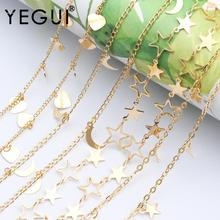 YEGUI C69,jewelry accessories,diy chain,18k gold plated,0.3