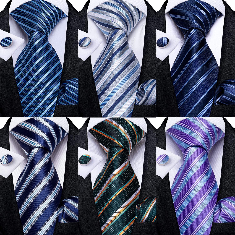 Men Tie Brown 100/% Silk Classic Barry Gravata Luxury Set Formal Wedding Party