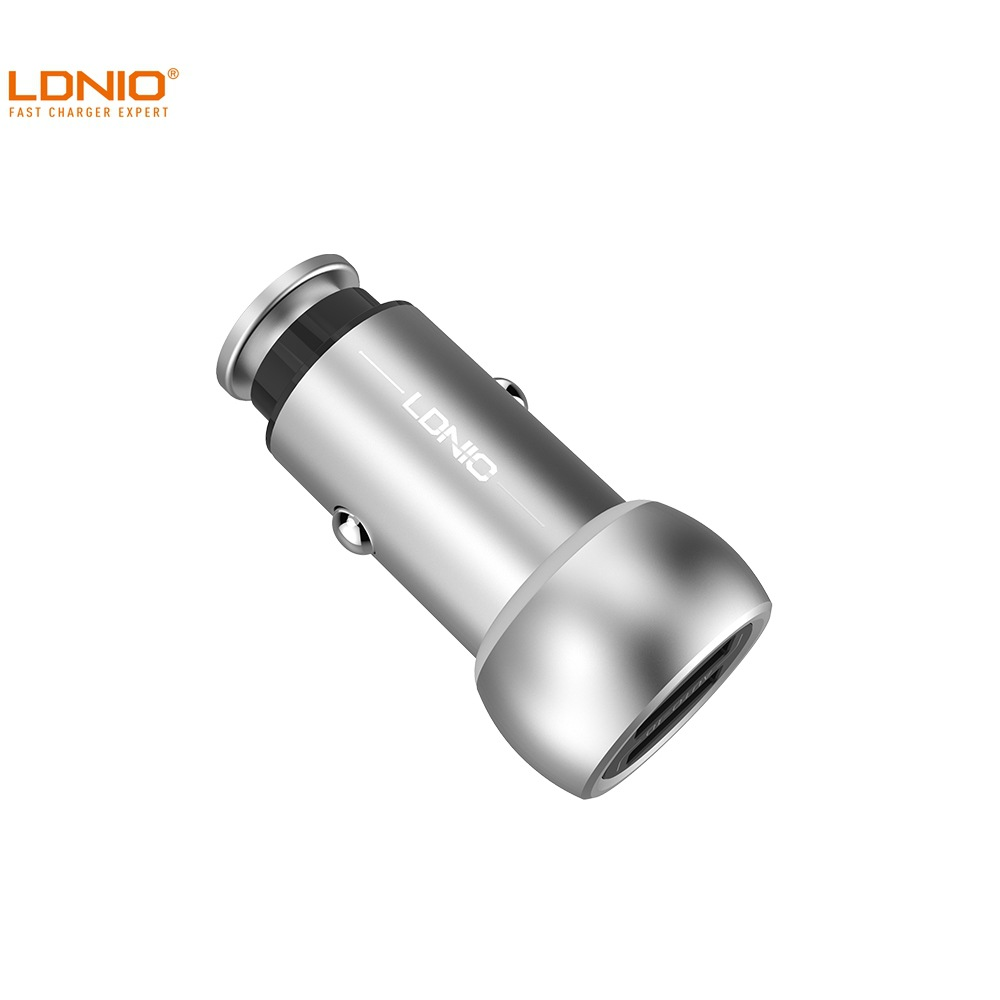 Ldnio Force Denau C401 Hot Selling High Quality Zinc Alloy 3.6 a Double USB Car Charger Small Steel Gun Car Mounted Charger|Speed Reducers| |  - title=