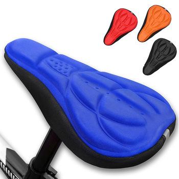 3DSoft osłona siodełka roweru siodełko rowerowe MTB jazda na rowerze silikonowe podkładka na siodełko poduszka do siedzenia pokrowiec na siodełko do rowerów akcesoria rowerowe D40 tanie i dobre opinie Inne High Quality EVA Black Orange Blue Red 27cm x 18cm x 3 5cm BMX Bike Mountain Bike Road Bike-Touring
