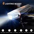 Велосипедный светильник  USB  перезаряжаемый  IP65  велосипедный светодиодный светильник  передний светильник на руль  светильник-вспышка с фу...