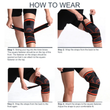 Sport Kneepad Sleeve Support Men Pressurized Elastic Knee Pad Support Fitness Cycling Basketball Volleyball Brace Protector 1PC