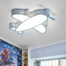 цены LED Ceiling Lamp for Kids Bedroom Cartoon Airplane Boys Girls Room Lamps Modern LED Animal Dimmable Ceiling Lights for Children