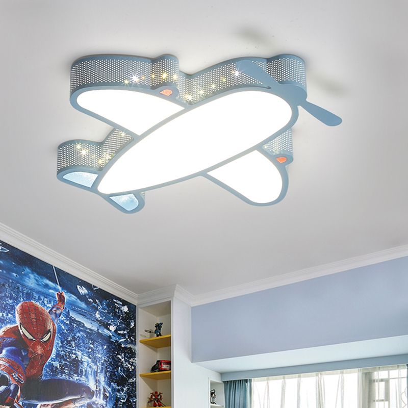 LED Ceiling Lamp for Kids Bedroom Cartoon Airplane Boys Girls Room Lamps Modern LED Animal Dimmable Ceiling Lights for Children image