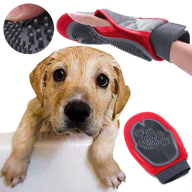 Pet Grooming Glove Hair Removal Brush Cat Dog Fur Hair Deshedding Gentle Efficient Dog Combs Pet bathing Massage Dropship