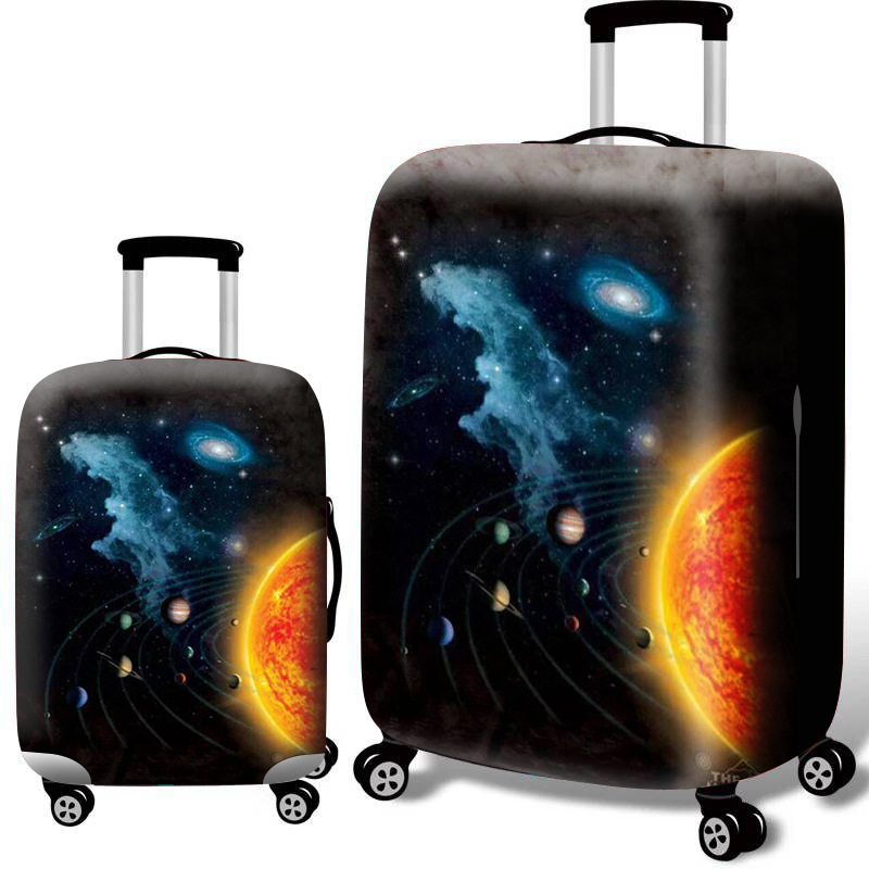 Thicken Luggage Cover Elasticity Luggage Protective Covers For 18/20/22/24/26/28/30/32 Inch Cosmic Pattern Suitcase Dust Cover