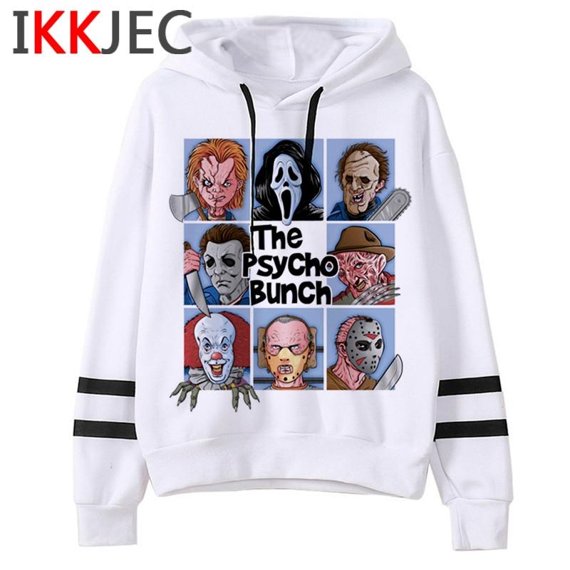 Chucky Funny Cartoon Graphic Hoodies Men/women Ulzzang 90s Horror Movie Casual Warm Sweatshirt Hip Hop Fashion Hoody Male/female