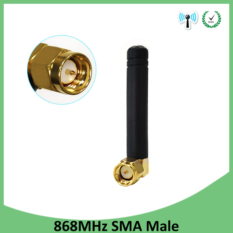 1pcs 868MHz 915MHz Antenna 3dbi SMA Male Connector GSM 915 MHz 868 MHz Antena Outdoor Signal Repeater Antenne Waterproof Lorawan