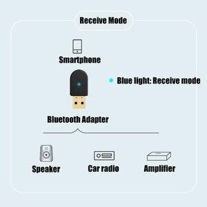 Image 2 - 2 in 1 Bluetooth 5.0 Ricevitore/Trasmettitore Senza Fili di Bluetooth Adattatore USB 3.5 millimetri AUX Con Call MIC per PC car Audio Altoparlante