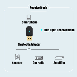Image 2 - 2 in 1 Bluetooth 5.0 alıcı/verici kablosuz Bluetooth adaptörü USB 3.5mm AUX çağrı mikrofon PC automobile için ses hoparlör