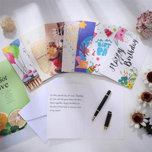 Image 5 - 40PCS Birthday Cards with 40PCS Envelopes Creative Birthday Cards Bulk Box Set Party Supplies