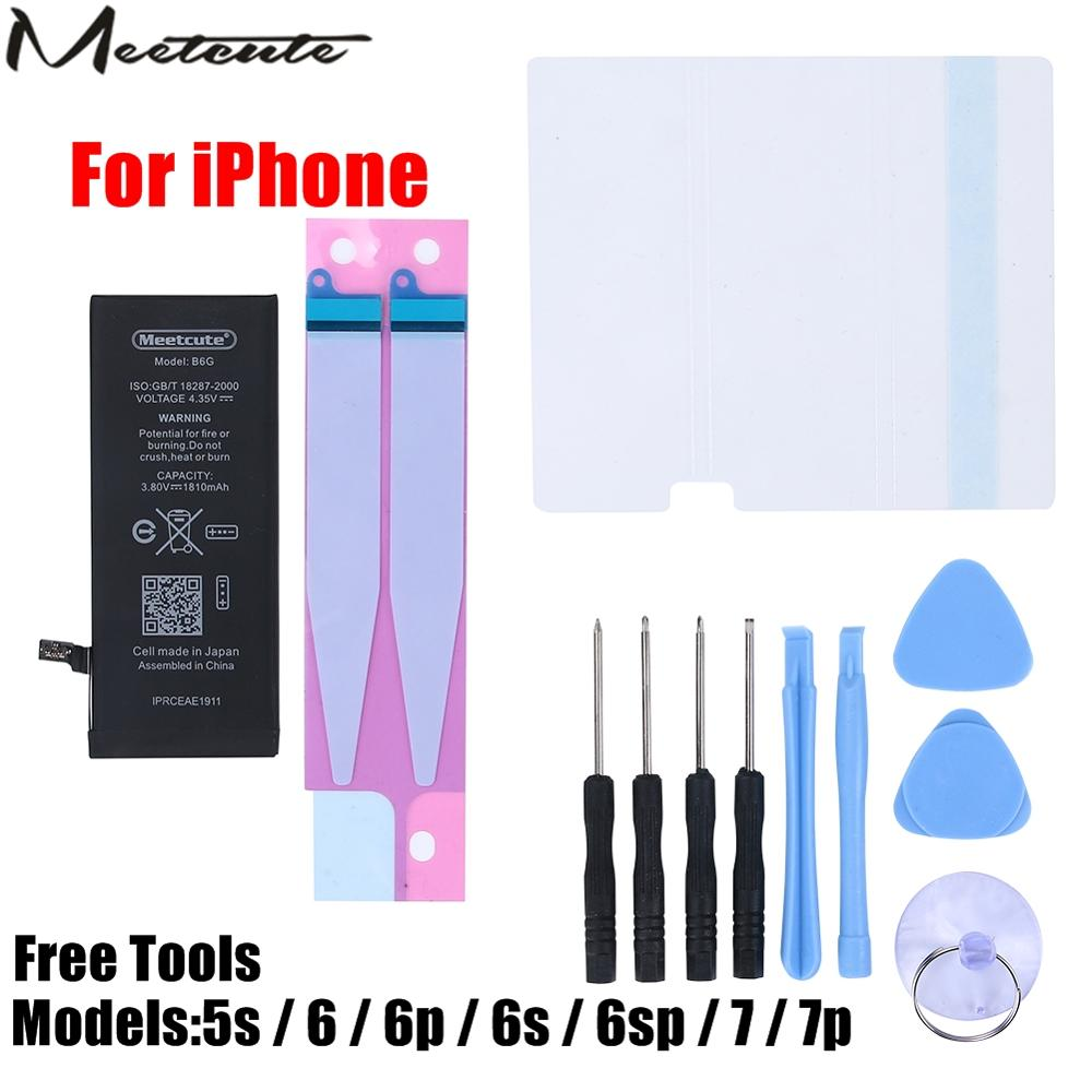 Mobile Phone Battery For IPhone 5s 6 6s 7 Plus Replacement For Iphone 6s Batterie Internal Bateria Free Tools Kit