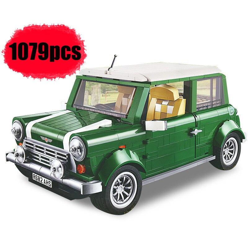 1267 технический Мини Купер эксперт совместимый 10242 DIY строительные блоки кирпичи классическая модель автомобиля Детские Подарочные игрушки