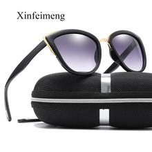 Xinfeimeng Luxury Brand Cateye Sunglasses for Women Vintage Glasses Retro