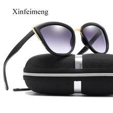Xinfeimeng Luxury Brand Cateye Sunglasses for Women Vintage Glasses Retro Cat eye ladies Sun glasses Female Eyewear Oculos gafas