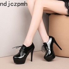 Women's Boots The New winter Round head Lace-up fashion High heel Ankle boots Wo