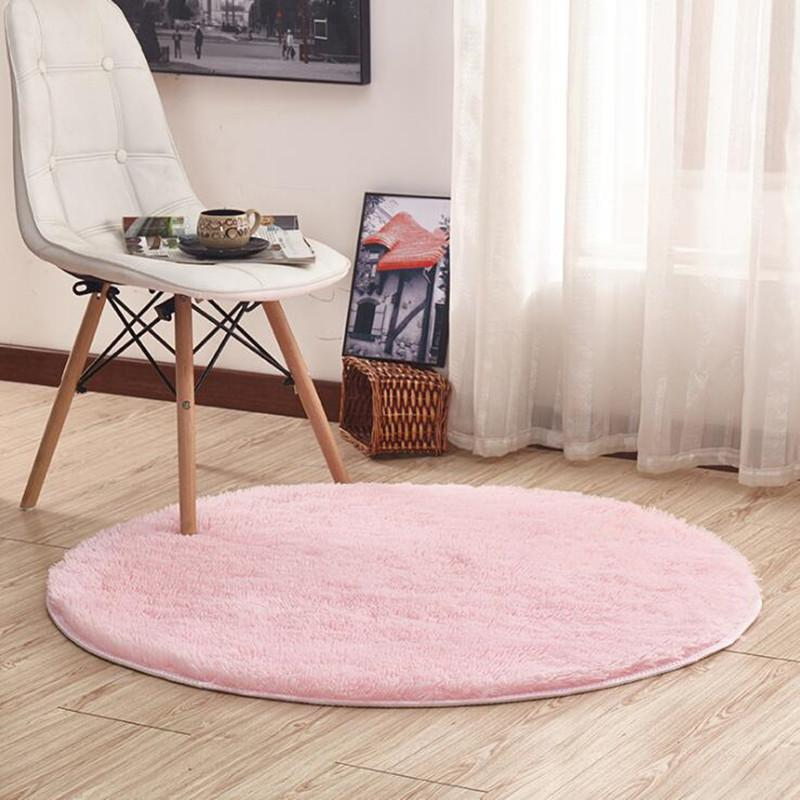 40   16 Colors Home Beige Carpets Round Thicken Soft Rugs For Living Room Kilim Aera Rugs Kids Bedroom Yoga Mats Floor Doormats