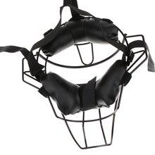 Регулируемый бейсбольный Софтбол Ловцы Защитное снаряжение Umpire маска для лица