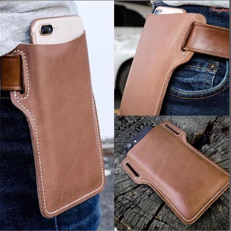 New Upgrade Leather Vintage Mobile Phone Case Pack Waist Bag Belt Clip