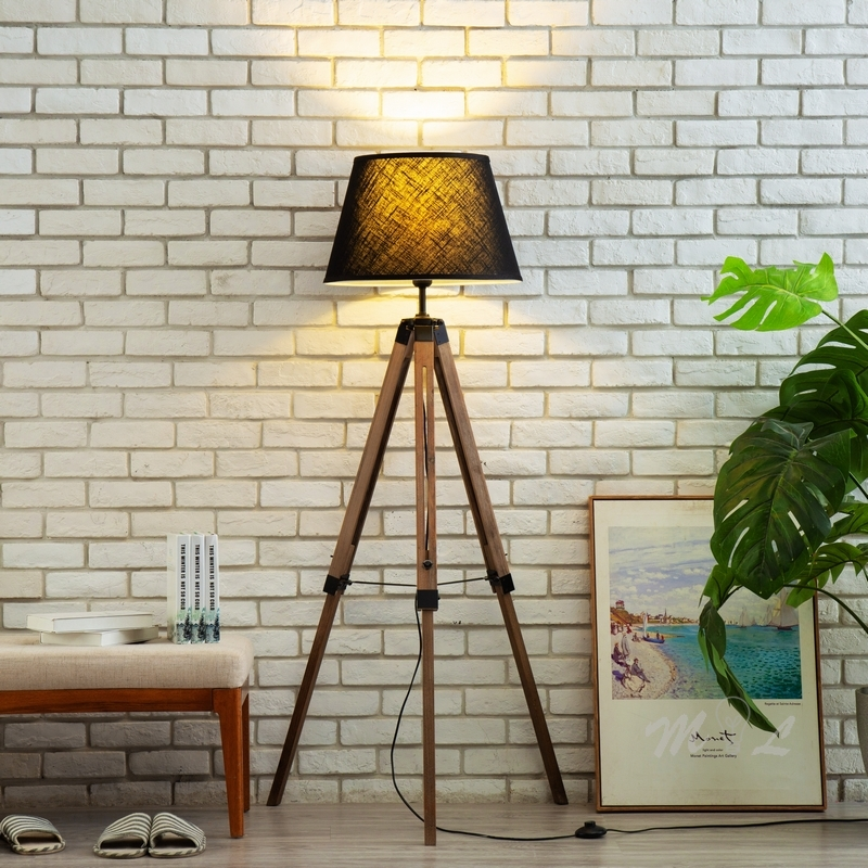 Modern Wood Tripod Standing Lamp For Living Room Bedroom Floor Lamp Art Deco Stand Lamp Nordic Home Deco Floor Lighting Fixtures