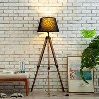 Tripé de madeira moderna lâmpada de pé para sala estar quarto lâmpada assoalho arte deco suporte lâmpada nordic casa deco luminárias piso