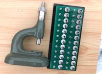 Jeweling Tool with Micrometric Screw and Set of 24 Pump Pushers Anvils