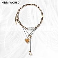 Fashion Luxury Metal Love Star Letter Necklace Jewelry Brand Double Necklace 2019 Hot Sale New Arrvial Pretty Gift