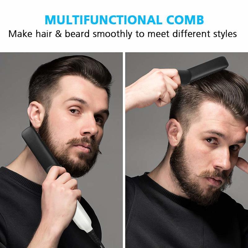 Hair Comb Brush Beard Straightener  With Electric Beard Straightening Comb For Man 2