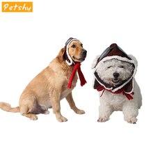 цена на Petshy Polar Fleece Vintage Adjustable Cat Dog Hat Cap Scarf for Pet Pilot Cosplay Party Dress Headwear Dogs Cats Hat Headband