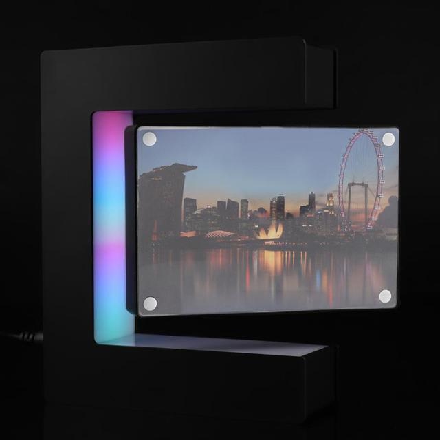 Electronic LED Magnetic Levitation Photo Frame Floating Photo Frame Novelty Gift Photo Frame Home Office Decor Wedding Gift 6
