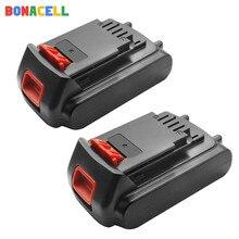 Bonacell 18V/20V 2000mAh Li-ion Rechargeable Battery Power Tool Replacement for BLACK & DECKER LB20 LBX20 LBXR20 L10