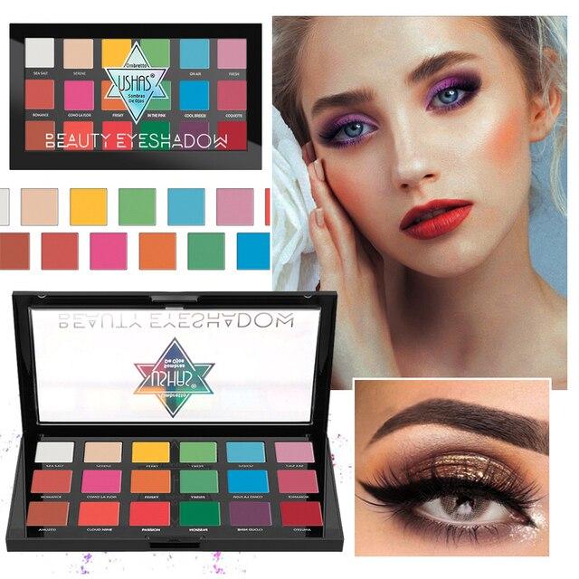 USHAS 18 colors eyeshadow pallete matte eyeshadow nude eye shadow makeup palletewaterproof Pigment Long lasting sombras TSLM1 3