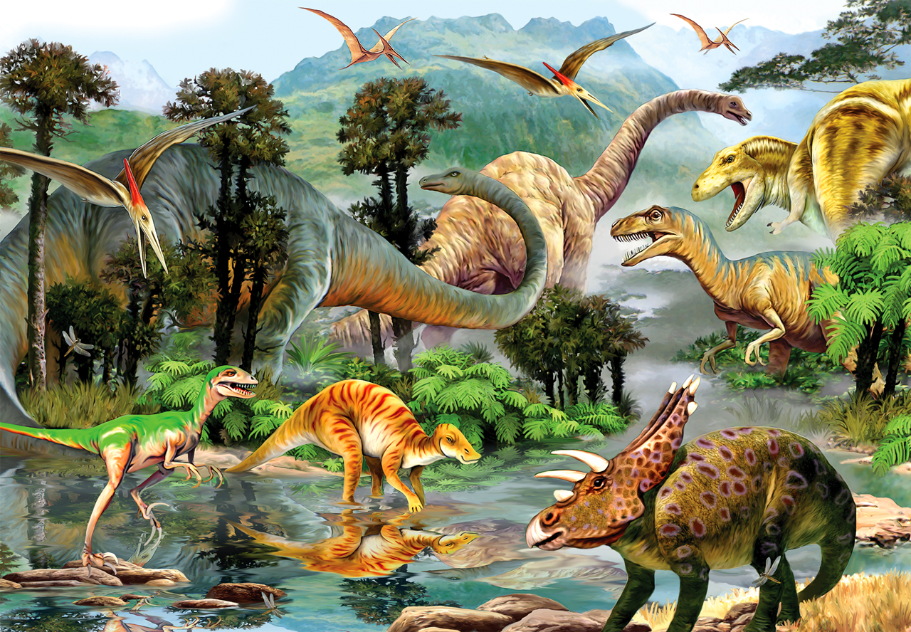 260 Pieces Of Dinosaur Valley Jigsaw Puzzle Children's Educational Toys