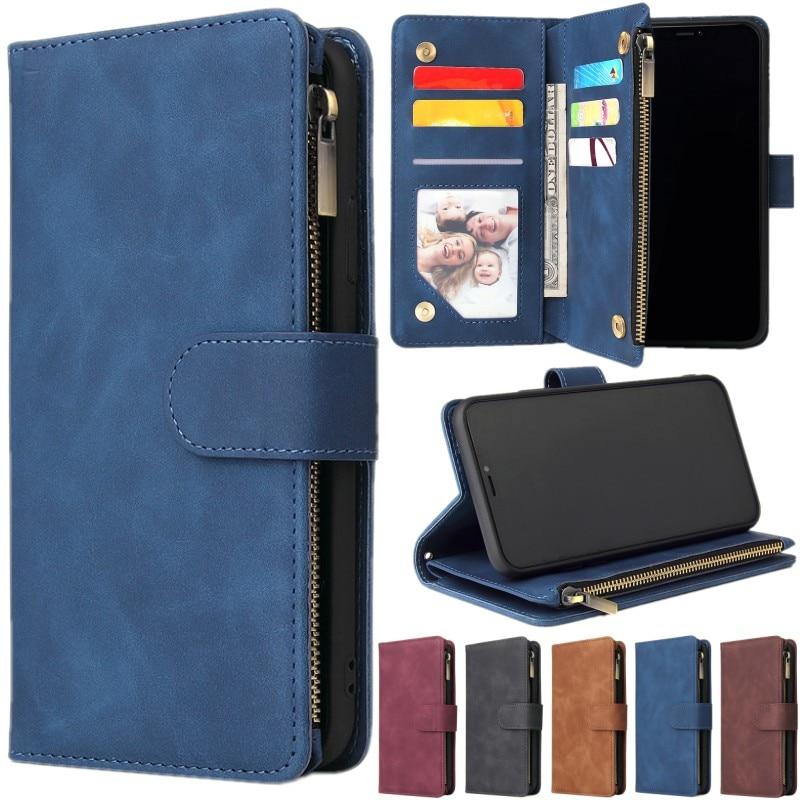 Retro Flip Leather Case for Samsung Galaxy A01 A10 E A11 A12 A20E A21 S A31 A41 A50 A51 5G A52 A70 A71 5G A72 Cards Wallet Cover