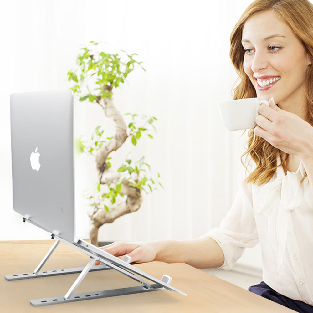 Adjustable Portable Laptop Stand Laptop Holder Aluminium Alloy Folding Bracket On Desk Table For IPad MacBook Pro PC Notebook