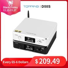 RICHT D50S Hifi USB DAC ES9038Q2M XMOS XU208 Bluetooth Decoder Amp DSD Optische Caoxial eingang 32Bit 768Khz Audio Verstärker