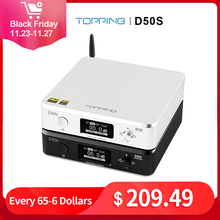 Đứng Đầu D50S Hifi USB DAC ES9038Q2M XMOS XU208 Bluetooth Bộ Giải Mã Amp DSD Quang Caoxial Đầu Vào 32Bit 768Khz Bộ Khuếch Đại Âm Thanh