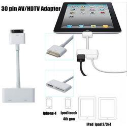 USB Mới HDM HDTV Dock 30 Pin TV Adapter Cáp Chuyển Đổi Dành Cho Ipad 1 2 3 Dành Cho iPhone 4 4 S