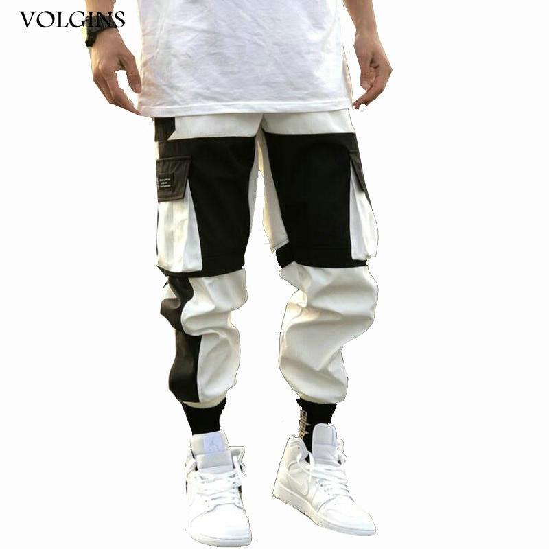Streetwear 2020 Spring Summer Cargo Pants Men Jogger Casual Fashion Pockets Joggers Men Pants Hip Hop Trousers Men Pants