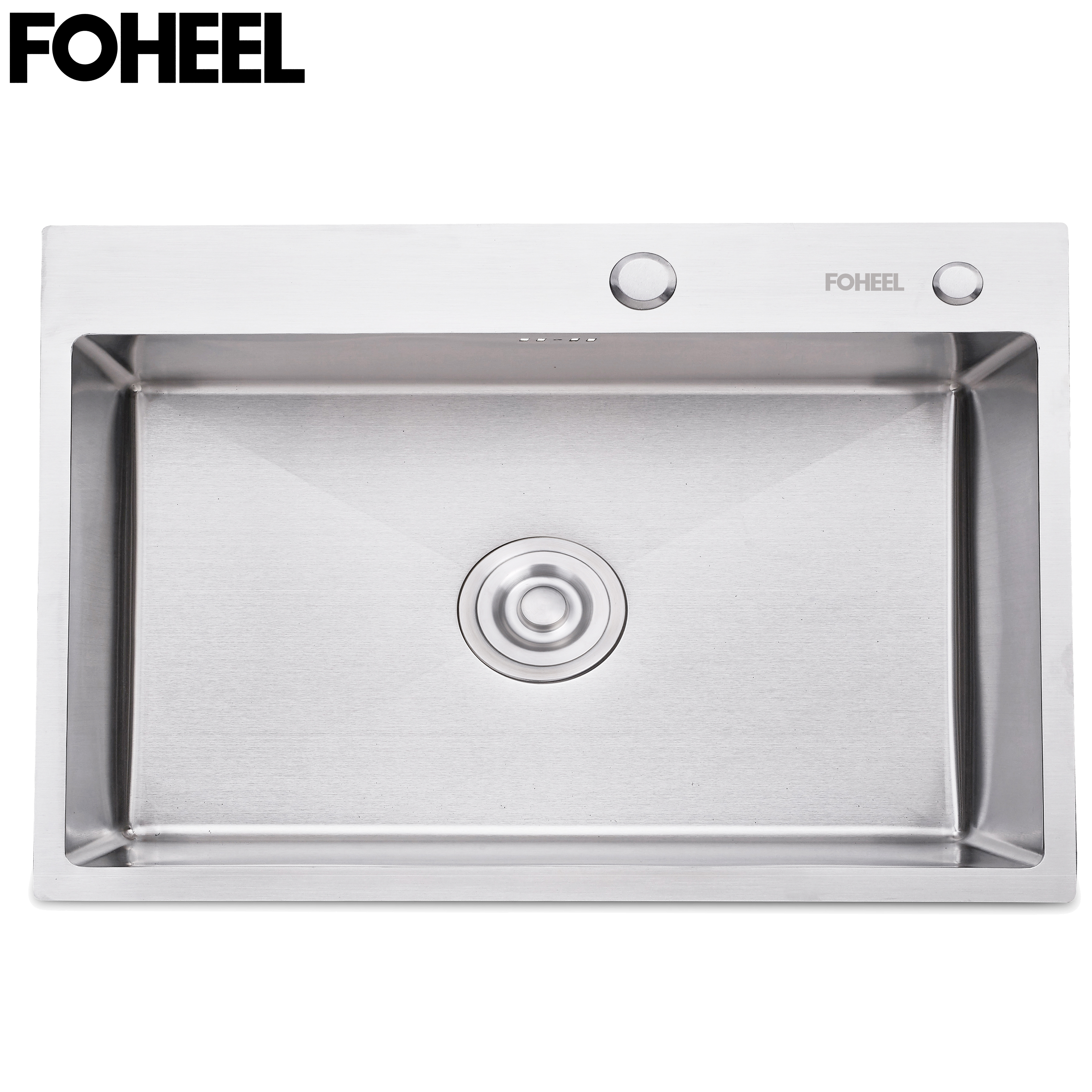 FOHEEL Stainless Steel Kitchen Sink Single Slot Dish Basin Single Kitchen Sink With Drain Basket And Drain Pipe