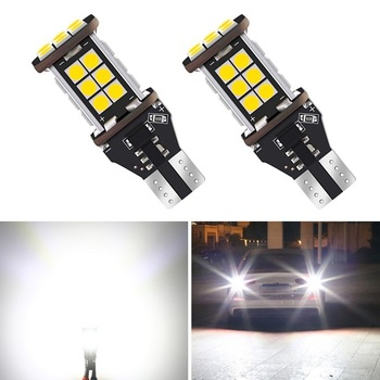 2PCS CAN-bus Error Free 921 T15 W16W LED Bulbs For BMW E90 E60 E36 F30 F10 E30 F20 M Car Backup Reverse Lights Xenon White 12V image